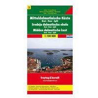Mapy i atlasy turystyczne, Střední Dalmácie Brač Hvar Split 1: 100 000 (opr. twarda)