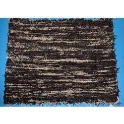 Chodnik bawełniany (wycieraczka) ręcznie tkany ciemny brąz-jasny brąz 65x50