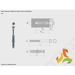 KKX 10/6x60 kołek rozporowy z łbem sześciokątnym (100szt)