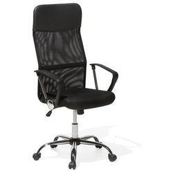 Krzesło biurowe czarne regulowana wysokość DESIGN
