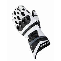 Rękawice motocyklowe, RĘKAWICE OZONE GLV DROP WHITE/BLACK