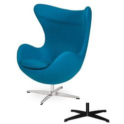 Fotel Jajo EGG CLASSIC - 3 kolory nóżek - wełna - Ciemny turkus