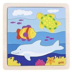 Drewniane puzzle Podwodny świat, Goki 57526