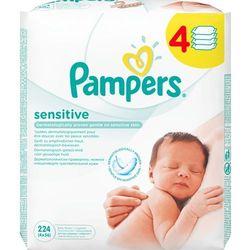 Pampers Sensitive chusteczki dla niemowląt 4 x 56 sztuk