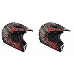 Kask moto. LAZER MX7 Hot Rod czarny/czerwony mat