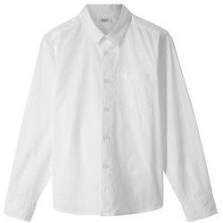 Koszula Slim Fit bonprix biały