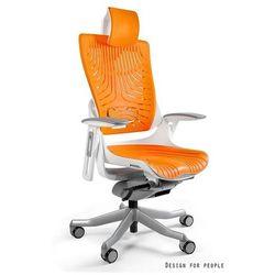 Fotel ergonomiczny biały WAU 2 Elastomer - Mango- ZADZWOŃ 692 474 000 - OTRZYMASZ RABAT!