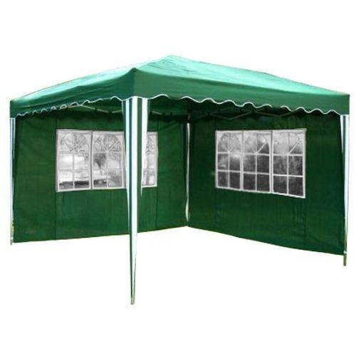 Namioty ogrodowe, EKSPRESOWY PAWILON NAMIOT OGRODOWY 3x3 2 ŚCIANY - Zielony