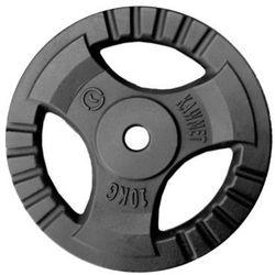 Obciążenie żeliwne do sztangi grafitowe (30,5 mm) 10 kg - 10 kg