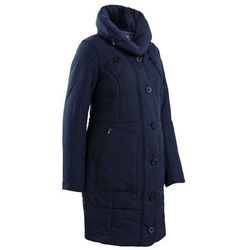 Krótki płaszcz pikowany ciążowy bonprix ciemnoniebieski