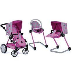 Hauck zestaw dla lalek 5w1 Icoo - wózek 3w1, fotelik, leżanka - BEZPŁATNY ODBIÓR: WROCŁAW!