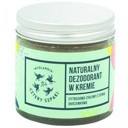 Naturalny Dezodorant w Kremie Cytrusowo-Ziołowy, 60ml Cztery Szpaki