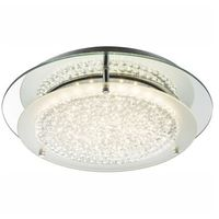 Lampy sufitowe, Plafon lampa oprawa sufitowa Globo Froo I 1x18W LED chrom/przeźroczysty 49299-18