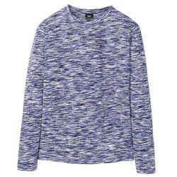 Shirt z długim rękawem melanżowy bonprix niebieski melanż