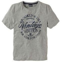 T-shirt Slim Fit bonprix jasnoszary melanż