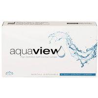 Soczewki kontaktowe, AquaView Monthly 6 szt.
