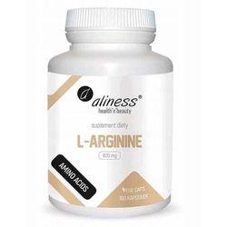 L-Arginina L-Agrinine 800mg 100 kapsułek vege caps Aliness