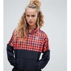 Puma exclusive recycled polyester red check hoodie - Red