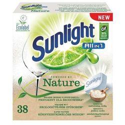 Sunlight all in 1 powered by nature tabletki do mycia naczyń w zmywarkach 38 szt.