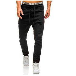 Spodnie joggery męskie czarne Denley 0803