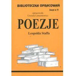 Poezje Leopolda Staffa Zeszyt 71 (opr. miękka)