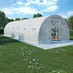 VidaXL Szklarnia ogrodowa, stalowa konstrukcja, 27 m², 900x300x200 cm