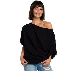 B079 Bluza z kimonowymi rękawami czarna