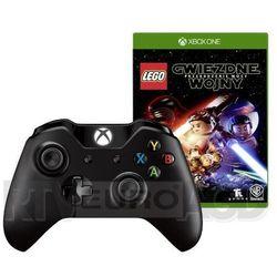 Microsoft Xbox One S Kontroler bezprzewodowy (czarny) + gra LEGO Gwiezdne Wojny: Przebudzenie Mocy