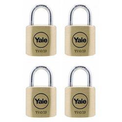 Y110/20/111/4 Zestaw 4 kłódek z jednym kluczem Yale