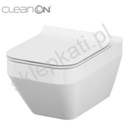 CERSANIT miska wisząca Crea Clean On prostokątna + deska Slim duroplast wolnoopadająca K114-016+K97-0178