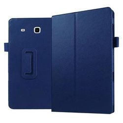 Granatowe etui skórzane PU Stand Cover Galaxy Tab E 9.6 T560 - Granatowy