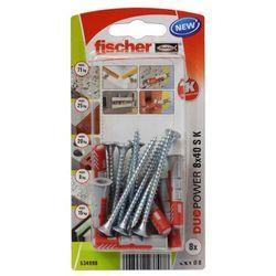 Kołek uniwersalny Fischer Duopower 8 x 40 z wkrętem 8 szt.
