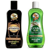 Kosmetyki po opalaniu, Australian Gold Rapid Tanning Intensifier and Soothing Aloe After Sun | Zestaw do opalania: mleczko do opalania 250ml + żel po opalaniu 237ml