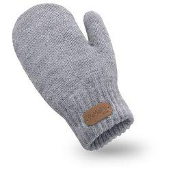 Rękawiczki dziewczęce PaMaMi - Jasnoszary - Jasnoszary