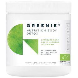 Sproszkowany sok z młodego jęczmienia Bio proszek 200g Greenie Nutrition Body Detox