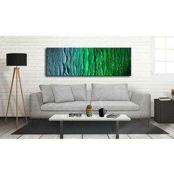MALARSTWO ABSTRAKCYJNE obraz panoramiczny 150x50cm boki 4cm rabat 15%