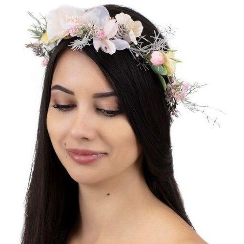 Pozostała biżuteria, Wianek na głowę boho kwiaty rustykalny ślubny