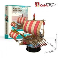 Puzzle, Puzzle 3D Roman Warship - 85 dílků neuveden