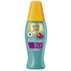 DAX Sun 150ml SPF 20 Niebieskie Mleczko ochronne dla dzieci i niemowląt na słońce