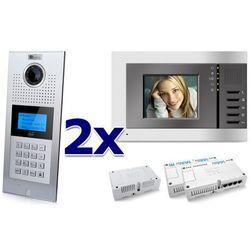 Zestaw wideodomofonowy 2 rodzinny Panel C5 C9E21L-C, 2x Monitor C5 V3, Akcesoria