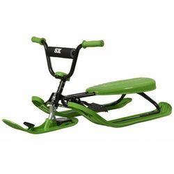 Nartosanki STIGA SNOWRACER SX PRO zielone - kierownica i hamulec