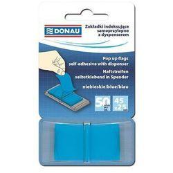 Zakładki indeksujące samoprzylepne z dyspenserem niebieskie - DONAU