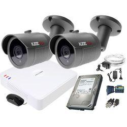 ZM11835 Zestaw do monitoringu 2 kamery IR 30m Rejestrator Hikvision FullHD Dysk 1TB