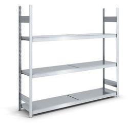 Regał wtykowy o dużej pojemności z półkami stalowymi,wys. 2000 mm, szer. półki 2000 mm