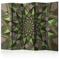 Pozostałe dekoracje, Parawan 5-częściowy - Gwiezdna mandala (zielony) II [Room Dividers]