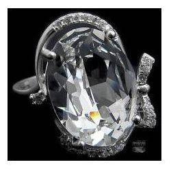 SWAROVSKI przepiękny pierścionek CRYSTAL SREBRO
