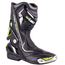Skórzane buty motocyklowe W-TEC Hernot W-3015, Czarny-fluo żółty, 43