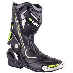 Skórzane buty motocyklowe W-TEC Hernot W-3015, Czarny-fluo żółty, 42