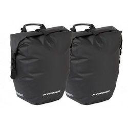 Sakwa na bagażnik KROSS AQUA STOP 50L (2x25L), wodoodporna, czarna