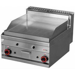 Płyta grillowa gazowa chromowana | gładka | 550x560mm | 10500W | 600x700x(H)290mm